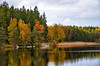 Colorful nature. (Bessula) Tags: bessula nature tees forest lake cane reed sky reflection water landscape scenery boats autumn sweden