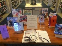 library bike book display (rikahlberg) Tags: provincetown bicycle capecod bike bikes
