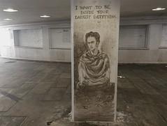 Frida Kahlo (svennevenn) Tags: gatekunst streetart bergen bergengraffiti graffiti fridakahlo androiben writingsonthewall skriftenpåveggen