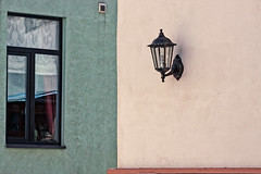 Lantern In A Wall (k009034) Tags: 500px windows baltic countries copy space estonia talinn tranquil scene architecture building city drapes exterior frame green lamp lantern light bulb no people old outdoor pink red screen street travel destinations urban ventilation wall built structure teamcanon balticcountries copyspace tranquilscene lightbulb nopeople traveldestinations