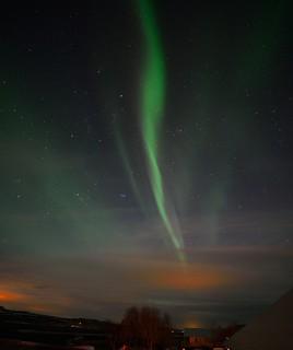 Aurora Borealis in Kirkjuból, Reykholt, Iceland
