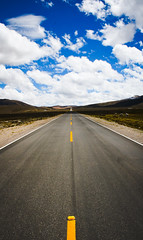 Life is a Highway (benjamin.t.kemp) Tags: road travel path peru horizon infinite straight stretch yellow black empty
