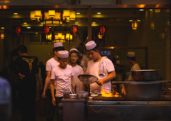 Xian' Kitchen (Ash and Debris) Tags: urbanlife market chief asia restaurant cooking city china flame urban cook citylife food master xian cafe fire asians kitchen