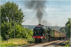 46100. 'The Thames-Clyde Express'. (Alan Burkwood) Tags: kwvr keighley lms 46100 royal scotpullmankeighleyoxenhopesteamlocomotive50th anniversary gala