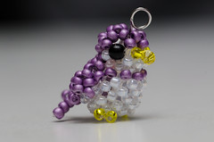 Beaded purple bird (Chi (in Oz)) Tags: macro beads beaded craft weaving animal bird tiny seedbeads