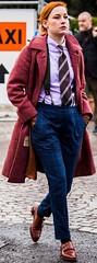 Milla (bof352000) Tags: woman tie necktie suit shirt fashion businesswoman elegance class strict femme cravate costume chemise mode affaire