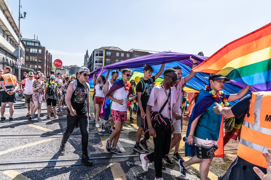 ABOUT SIXTY THOUSAND TOOK PART IN THE DUBLIN LGBTI+ PARADE TODAY[ SATURDAY 30 JUNE 2018] X-100059