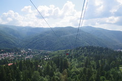 imgp9625 (Mr. Pi) Tags: village mountains cablecar romania dirtywindow sinaia carpathians