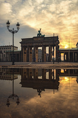 Brandenburger Gate / Berlin - Sunrise (Light Levels Photoworks) Tags: architecture architektur allemagne adventure atmosphere berlin berliner city cityscape clouds d750 deutschland day europe europa earth capital haupstadt germany landscape landschaft moment morning nikon nikkor outdoor perspectives paysage photography perspektive reflexion reflection spiegelung stadt street sonnenaufgang sunrise sunlight sunny time travel urban view voyage viewpoints ville world wetter weather wolken wasser wideangle water haidafilter system