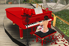 Piano-Mojo (anniedora651) Tags: piano playing mojo red