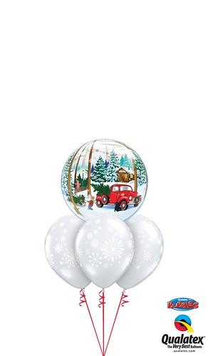 Snowscape & Antique Truck Bubble Layer