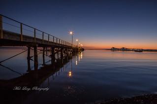 Boston bay Port Lincoln at sunrise