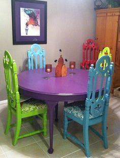 mexican multi colored dining room sets – Recherche Google