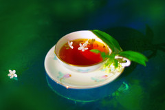 Spring in my teacup (Jolie Candy ♫ (See You in July)) Tags: carlzeissplanart1450zf2  carlzeissplanar nikon tea spring waterjasmine fresh maichiếuthủy