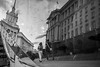 twisted (taxtamas) Tags: sofia bulgaria blackandwhite people couple monochrome street reflection