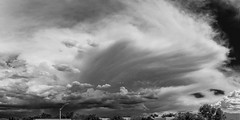 (el zopilote) Tags: 500 albuquerque newmexico cityscape street architecture clouds panorama canon eos 5dmarkii canonef24105mmf4lisusm fullframe bw bn nb blancoynegro blackwhite noiretblanc digitalbw bndigital schwarzweiss monochrome