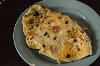 Vegan Ham and Asparagus Omelet