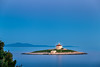 Lighthouse on Pokonji Dol Island (Wolfhowl) Tags: lighthouse spring landscape sunset sailing water croatia pokonjidol sea building blue soft dusk hvar travel otok reflection island sky seascape sunrays europe adriatic april