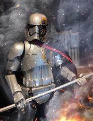 Battle Damaged Phasma Canadian TRU exclusive. Not sure who will carry this in the US (chevy2who) Tags: jedi last phasma series black starwars figure action toyphotography toy wars star