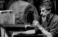 Proper job. (Neil. Moralee) Tags: neilmoralee man drink beer smoke cigarette moustache beard pint properjob st austell brewery sunlight available portrait street candid old mature smoker pub england devon teignmouth relax relaxation relaxing alcohol afternoon bright hot alone black white bw bandw blackandwhite mono monochrome nion d7200 neil moraleegarden tradition father husband deep thought contemplation thinking ipa glass table face profile