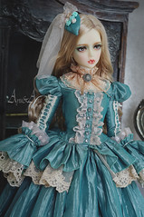Lazure Miss (AyuAna) Tags: bjd ball jointed doll dollfie ayuana design minidesign handmade ooak clothing clothes dress set outfit robe vetement gown fashion couture sewing style sewingfordolls victorian edwardian historical sd sd13 sd10 ordoll eris hybrid sadol love60 body whiteskin