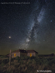 Abandoned House 1 (jamesclinich) Tags: abandoned building old architecture texas tx nighttime milkyway stars sky landscape lowlevellighting tripod olympus omd em10 mzuiko714mmf28pro sequator adobe photoshop topaz denoise detail clarity stacked jamesclinich