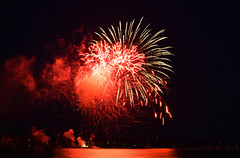 Canada Day 2018 (spencerwalton) Tags: contrast red canada colour fireworks ontario cloud clouds vibrant smoke lake huron orange light lights sky night celebration holiday celebrate party nikon d3300 camera photography photo
