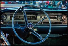 Classic Car Art (drpeterrath) Tags: canon eos5dsr 5dsr classic vintage car art show losangeles glendalecruisenight glendale automobile naturallight outdoor california cruising 50s blue turqoise steeringwheel dashboard cadillac