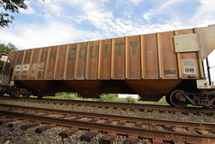 Union Equity (TheGraffitiHunters) Tags: graffiti graff spray paint street art colorful benching benched freight train tracks hopper union equity railroad company