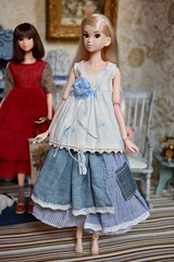 Dressed in Blue (Girl Least Likely To) Tags: momoko sekiguchi closeclippedsheep dolls toys asianfashiondolls japanesetoys miniatures dollhouse dollscene diorama dollroom livingroom dresses
