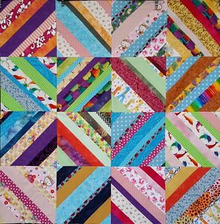 Diagonal blocks Quilt.