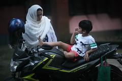 From The Hornet's Nest (N A Y E E M) Tags: umar kalam son shezin wife dusk motorbike lawn home rabiarahmanlane chittagong bangladesh sooc raw unedited untouched uma lulu