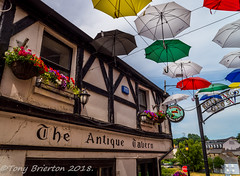 The Antique Tavern. (Tony Brierton) Tags: 1718 art cowexford enniscorthy street umberellas colours countywexford ireland