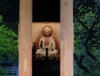 Buddha in Kamakura with reflection