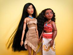 How far will the riverbend go? (honeysuckle jasmine) Tags: dolls doll moana pocahontas princess disney
