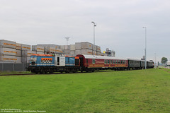 LOCON 203 160 + Eternal Tide Express - Rotterdam Botlek 24-10-2015. (NovioSites) Tags: locon merciacharters eternaltideexpress 203160 9904 alstom v100 portofrotterdam botlek loc locomotive trein train rail netherlands