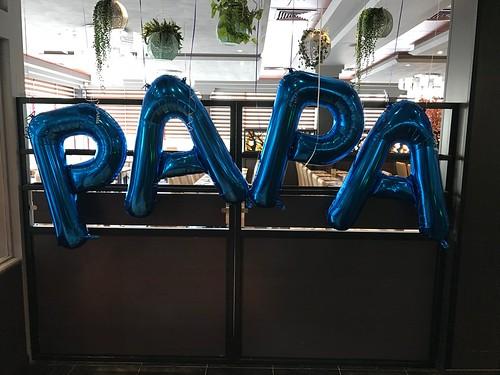 Folieballon Letters Vaderdag Restaurant Atlantis Arnhem
