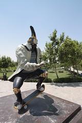 Lake Chitgar (blondinrikard) Tags: iran persia travel tourism chitgar statue skater skateboard tehran