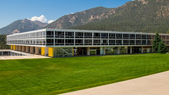 Airforce Academy Geometry (.sanden.) Tags: grass building house architecture sky plant landscape noperson outdoor officebuilding mountain housing campus green villa lawn field travel large daylight facade background flora outdoors train city front canon7dmarkii ef24105mm coloradosprings co us colorado unitedstates airforceacademy