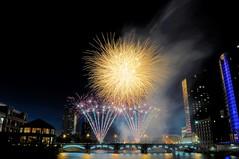 Fireworks on the Grand (John Rothwell) Tags: grandrapids michigan fireworks july summer 2018