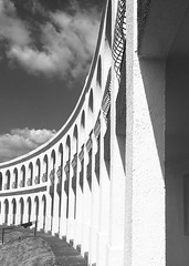 Deco Curve. (Melanie Gregory) Tags: holiday hotel dorset artdeco architecture blackwhite