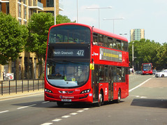 SLN 13022 - BG14ONT - PLUMSTEAD ROAD WOOLWICH - SUN 8TH JULY 2018 (Bexleybus) Tags: woolwich town centre shopping tfl route plumstead road 472 wrightbus gemini 2 volvo hybrid stagecoach london 13022 bg14ont