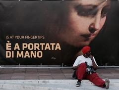 Fingertips (#mimesi) Tags: woman blackwoman poster fingertips colors street streetphotografy bologna fujix