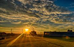 A Summer Sunburst (kendoman26) Tags: hdr nikhdrefexpro2 sunrise sun sky sunburst nikon nikond7100 tokinaatx1228prodx tokina tokina1228 morrisillinois