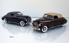 1941 Chevrolet Special DeLuxe Coupe and Convertible (JCarnutz) Tags: 124scale diecast danburymint 1941 chevrolet specialdeluxe
