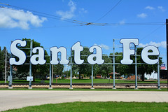 Illinois Ry Museum - Santa Fe sign (Jim Strain) Tags: jmstrain train railroad railway sign santafe chicago union illinois