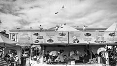 Suomi (gorelin) Tags: sony alpha a7ii a7 fe28f20 28mm blackandwhite blackwhite bw finland suomi helsinki seagulls birds market ladies stripes finnish flag street streetshooting life
