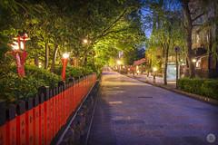 Streets of Kyoto : Shirakawa-minami Dori (3/10) [JP] (ta92310) Tags: kyoto travel asia spring 2018 honshu kansai japon japan sun soleil canon architecture blue hour long exposure street rue quiet calme light night nuit old ancien shirakawaminami dori