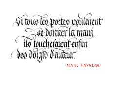 Citation de Marc Favreau. (Syntax One) Tags: calligraphy blackletter fraktur