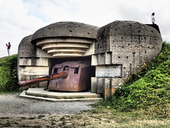 WW2 German Gun Battery. (Flyingpast) Tags: ww2 gun defence france normandie french dday vacation arromanches beaches people coast northern bayeux history building structure battle